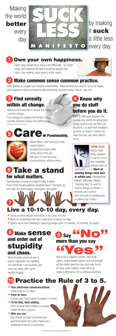 Suck Less Manifesto